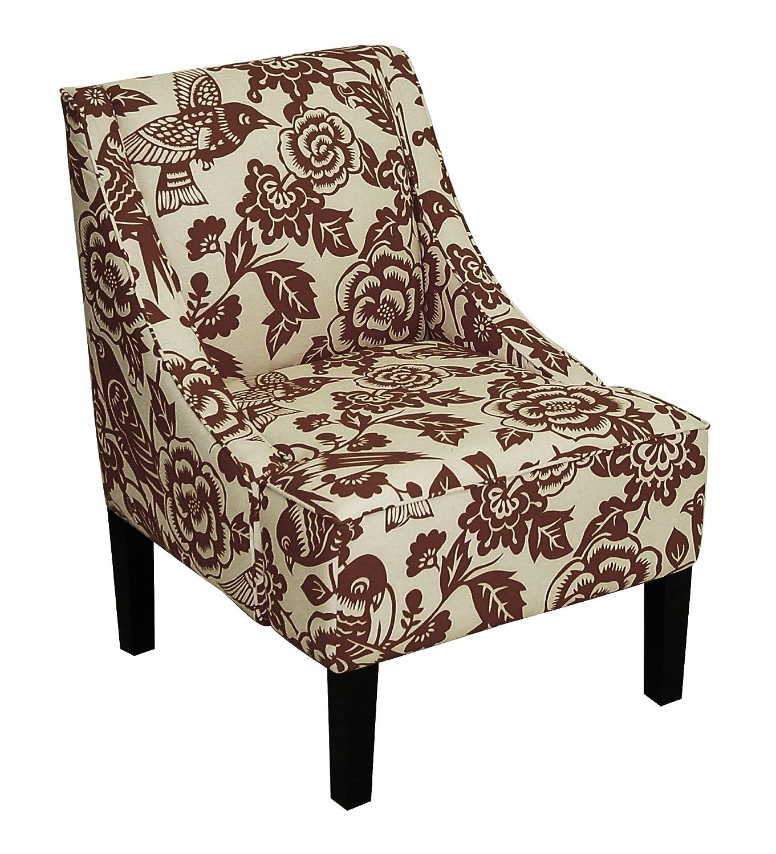 amazoncom skyline furniture swoop arm chair in velvet white  - amazoncom skyline furniture swoop arm chair in velvet white kitchen dining