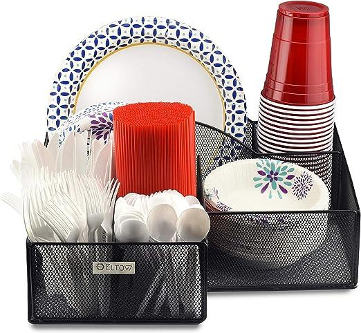 Amazon.com: Organizador de platos y cubiertos ELTOW: cuchara ...