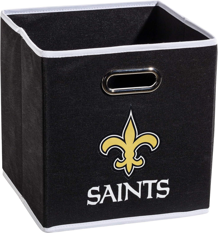 "Franklin Sports NFL Team Fabric Storage Cubes - Made To Fit Storage Bin Organizers (11x10.5x10.5"")"