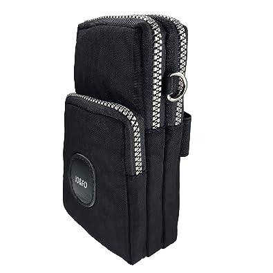 93a7e3477082 JO&FO Multifunctional Phone Pouch Bag 3 Layers Crossbody Shoulder Mini  Handbag Waterproof Nylon Wristlet Purse