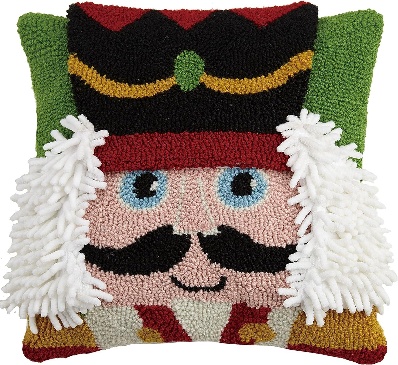 Peking Handicraft Nutcracker Hook Throw Pillow, Multicolored