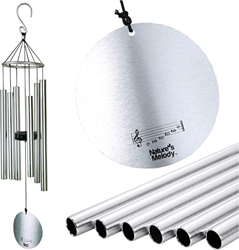 Super More Wind Chimes Outdoor with 18 Aluminum Alloy Tubes and 1 Hook for Garden Patio Porch Backyard Decor