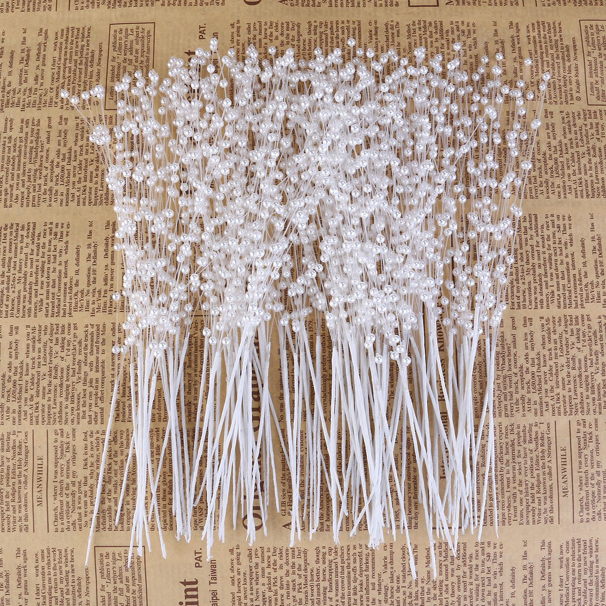 ROSENICE ABS Pearl Sticks Wedding Bouquet Bridal Party Supplies Decoration 100pcs White