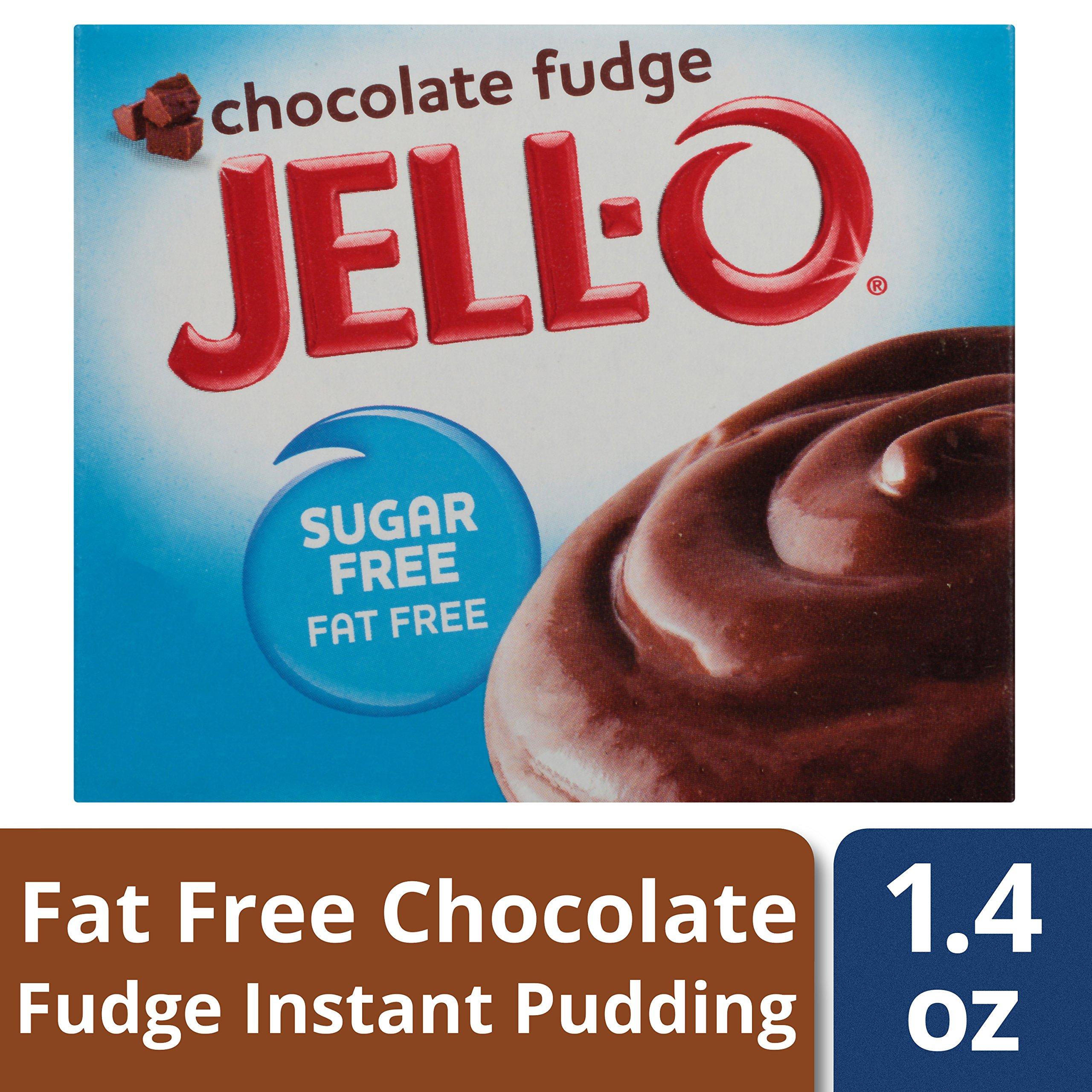 Jell-O Sugar-Free Instant Pudding & Pie Filling, Chocolate Fudge, 1.4 oz