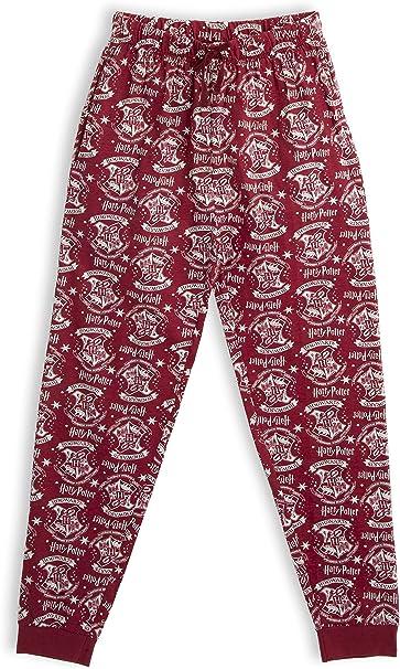 HARRY POTTER Pantalones de Pijama para Mujer Hombre, Hogwarts Pijamas Invierno Mujer 100% Algodón Ropa de Dormir, Pantalón Largo Cómodo, Regalos Niños Niñas Mujeres Hombres: Amazon.es: Ropa y accesorios