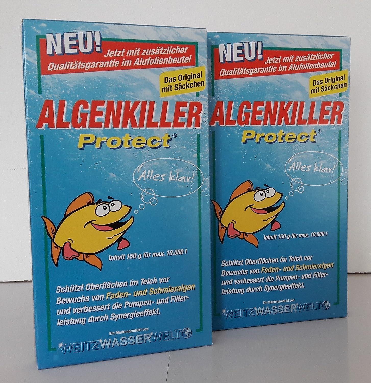 Algenkiller Protect - 2 x 150 gr zuverlässig gegen alle Algen im Teich Weitz