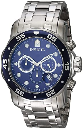 6cd9416b91f Invicta Men s 0070 Pro Diver Collection Analog Chinese Quartz Chronograh  Silver-Tone Blue Stainless
