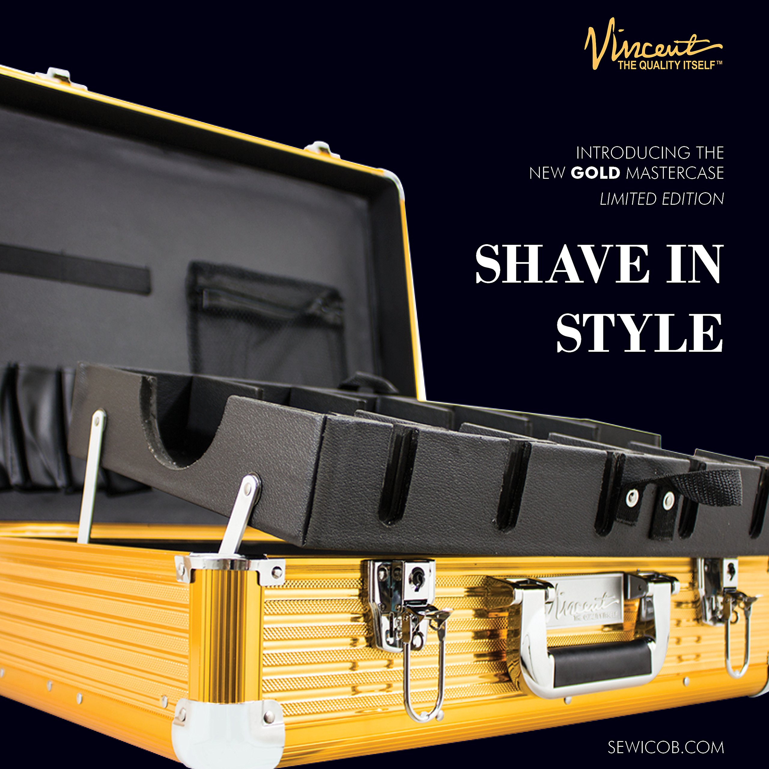 Vincent Master Case Travel Stylist Barber Case, Large, Gold