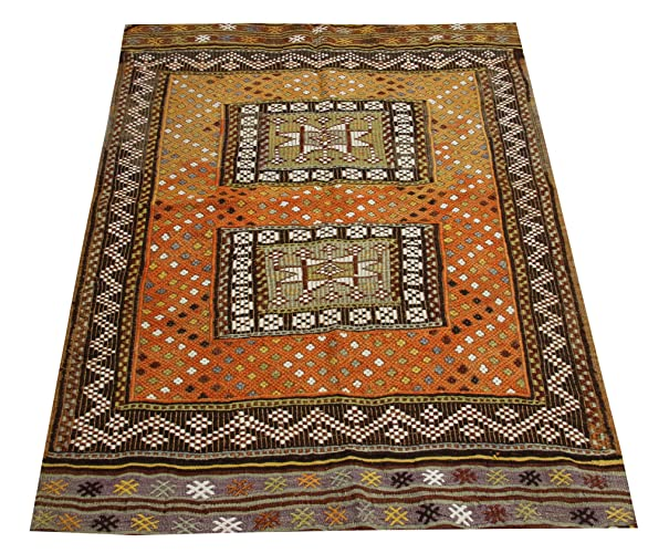 Amazon Com Kilim Rug 4 4x3 4 Feet Area Rug Old Rug Nomadic Kilim