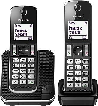 Oferta amazon: Panasonic KX-TGD312 - Teléfono Fijo inalámbrico Dúo (LCD, identificador de llamadas, agenda de 120 números, bloqueo de llamada, modo ECO, reducción de ruido), Negro