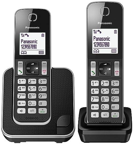 Kxtgd312 Cordless Dect DuoNero Telefono Panasonic v7Yb6fgy