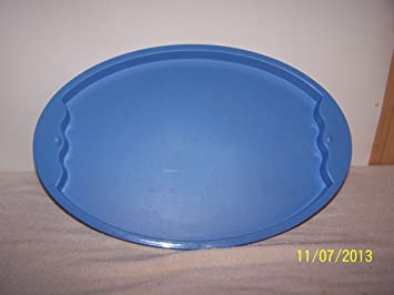 Tupperware – bandeja ovalada (impresión país azul