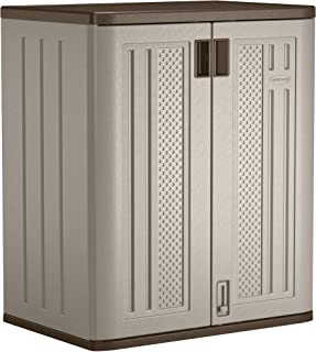 "product image for Suncast 36"" Resin Base Garage Storage Cabinet, Platinum"