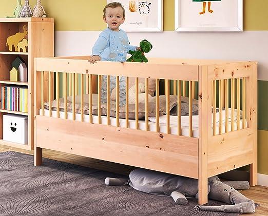 Modulares babybett gitterbett aus zirbenholz cm