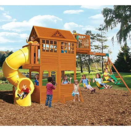 Amazon Com Kids Outdoor Adventure Clubhouse With Twist N Ride Tube
