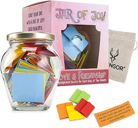 glengor jar of joy love friendship month of happy and