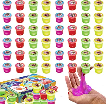 Stress Relief Super Soft /& Squishy Stretchy Slime for Girls /& Boys Slime Toy Non-Sticky partyin 36 Packs Glow in The Dark Slime