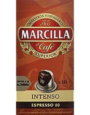 Marcilla Café Intenso Intensidad 10 - 40 cápsulas de aluminio compatibles con máquinas Nespresso (R)* (4 Paquetes de 10 cápsulas)