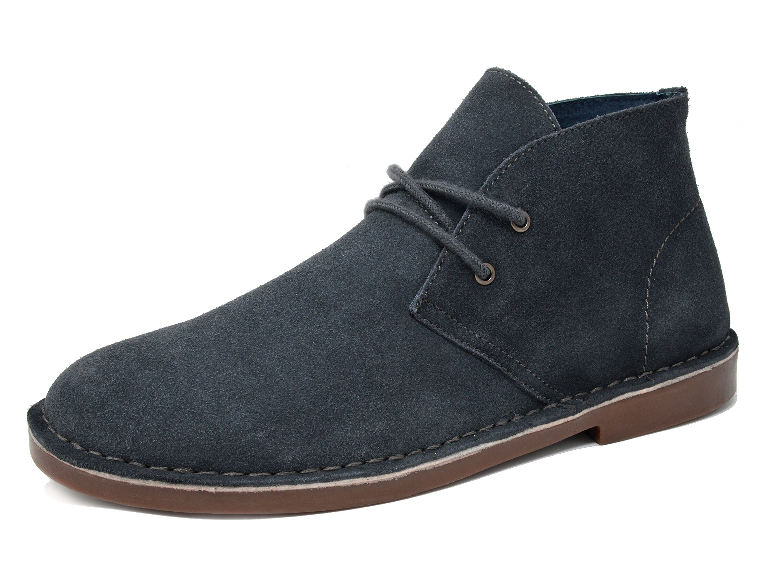 Bruno Marc Men's Francisco-High Grey Suede Leather Chukka Desert Oxford Ankle Boots - 8 M US