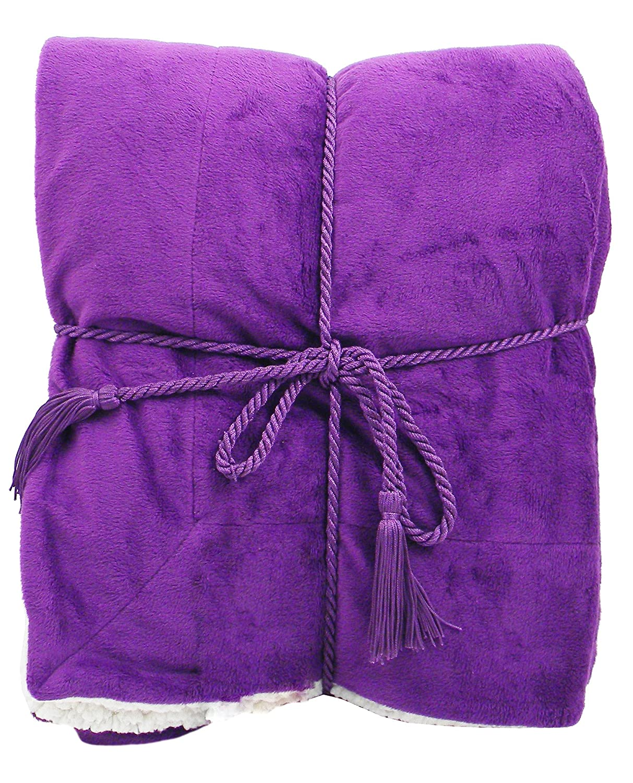 amazoncom simplicity soft faux fur blankets throw reversible   - amazoncom simplicity soft faux fur blankets throw reversible  xpurple home  kitchen