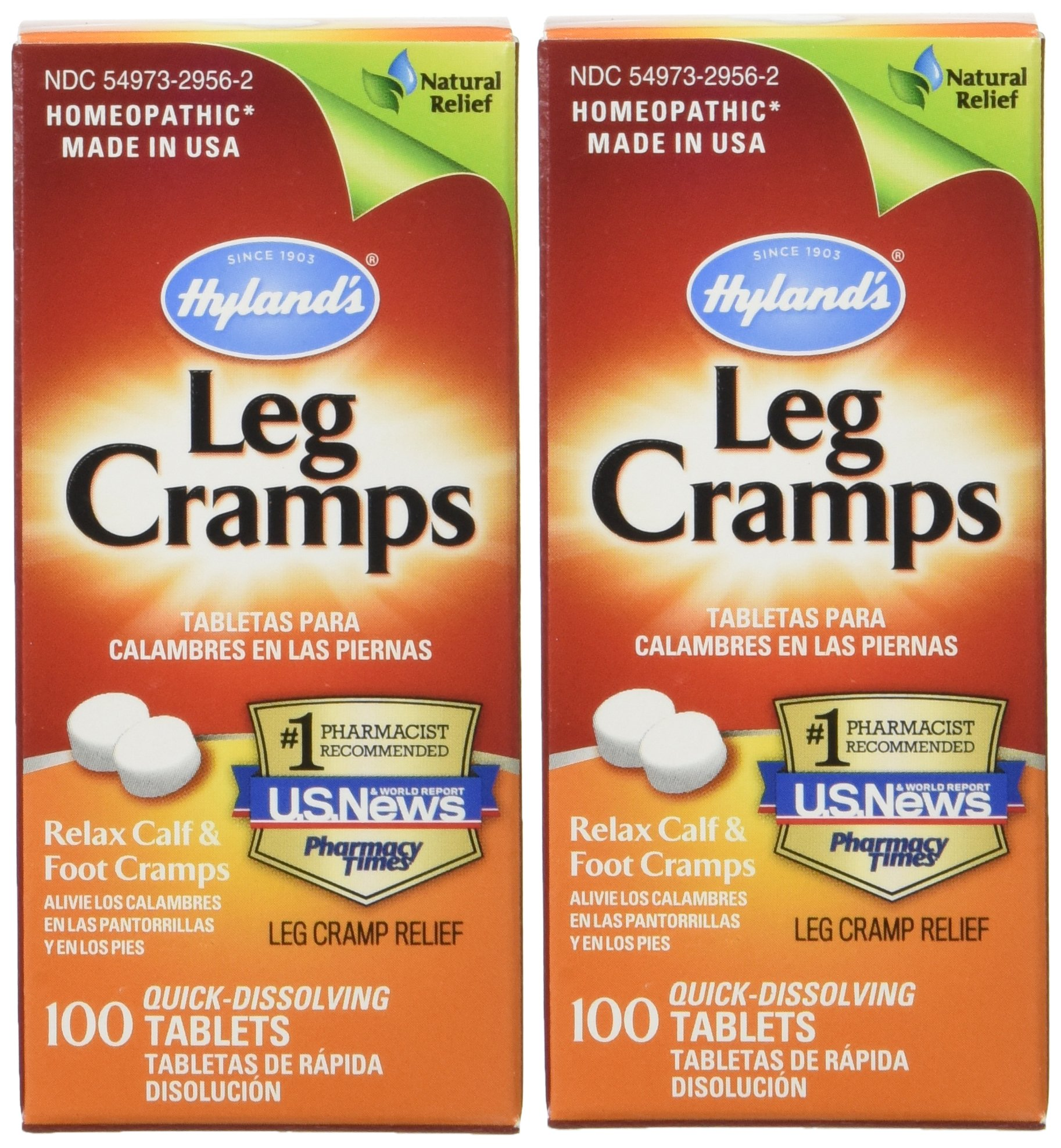 Hyland's, Leg Cramps, 100 Tablets (2 Pack)