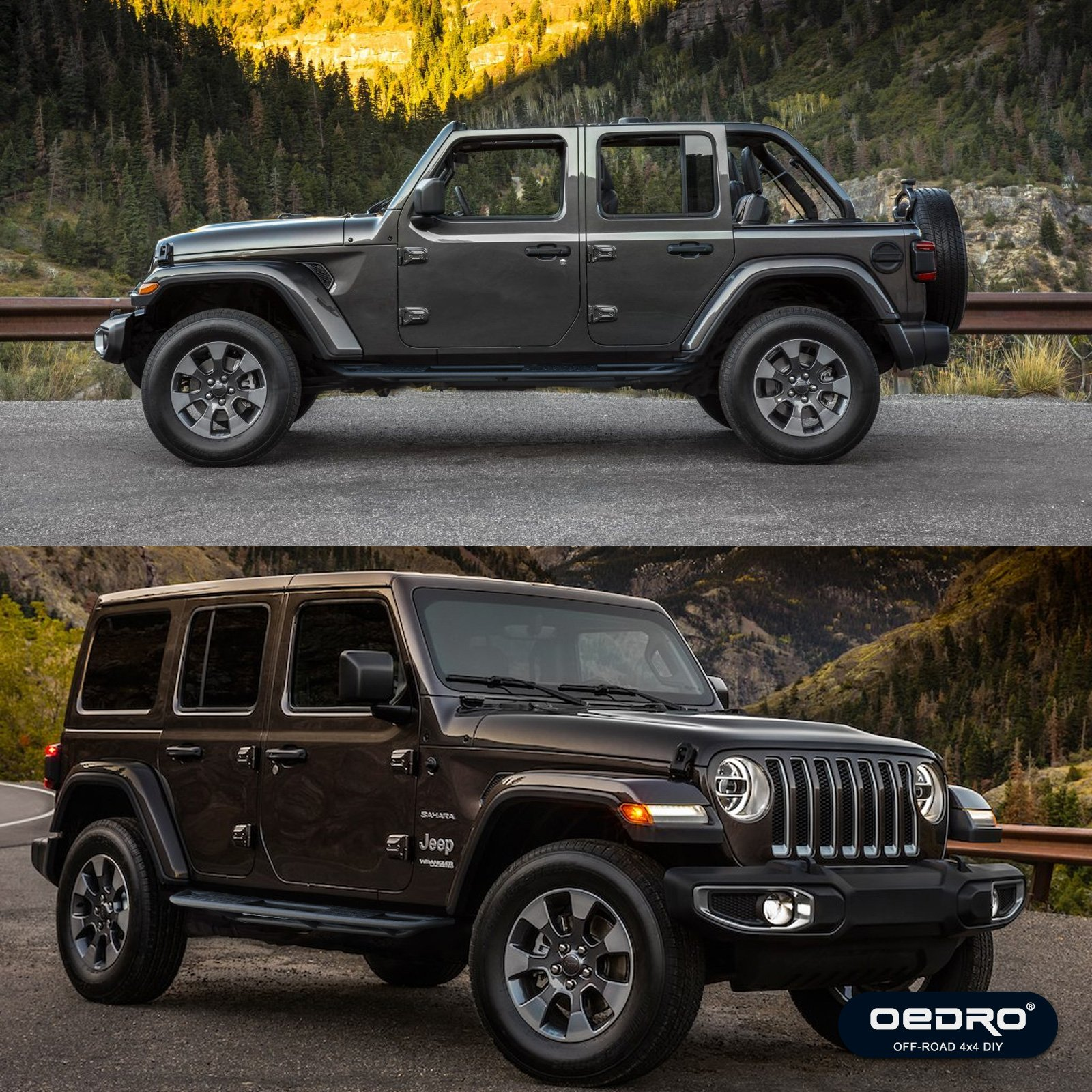 Oedro Side Step Guardian Kit Compatible For 2007 2018 Jeep Wrangler Jk Running Boards 4 Door Unique Multi Layer Slip Proof Corrosion Protection Upgraded Textured Black