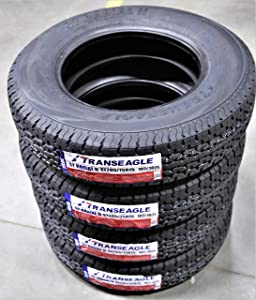 Set of 4 (FOUR) Transeagle ST Radial II Steel Belted Premium Trailer Tires-ST205/75R15 107/102L LRD 8-Ply