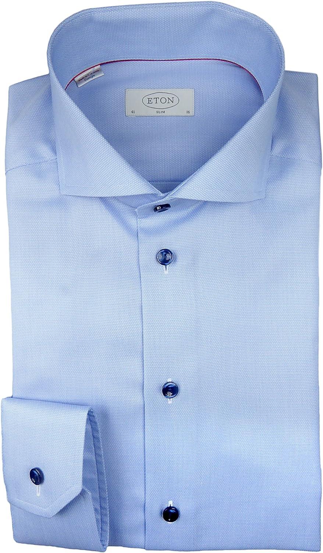 Eton - Camisa Formal - Cutaway - para Hombre Azul Claro 40 ...