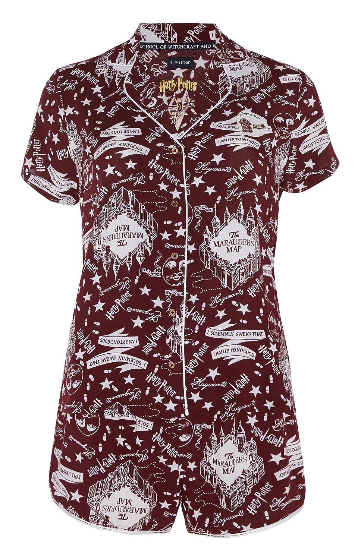 Conjunto de Pijama y Pantalones Cortos para Mujer y niña de Harry Potter Navy Medium (42/44 ES): Amazon.es: Ropa y accesorios