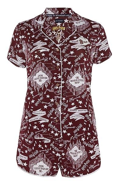 Conjunto de Pijama y Pantalones Cortos para Mujer y niña de Harry Potter Navy Medium (