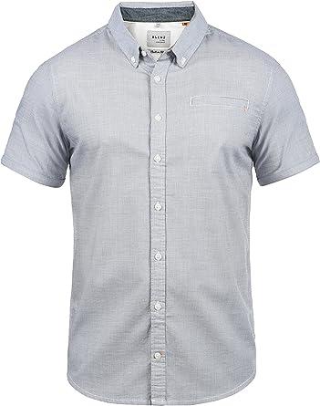 BLEND Fillus Camisa De Manga Corta Veraniega con Botones En El Cuello De 100% algodón: Amazon.es: Ropa y accesorios