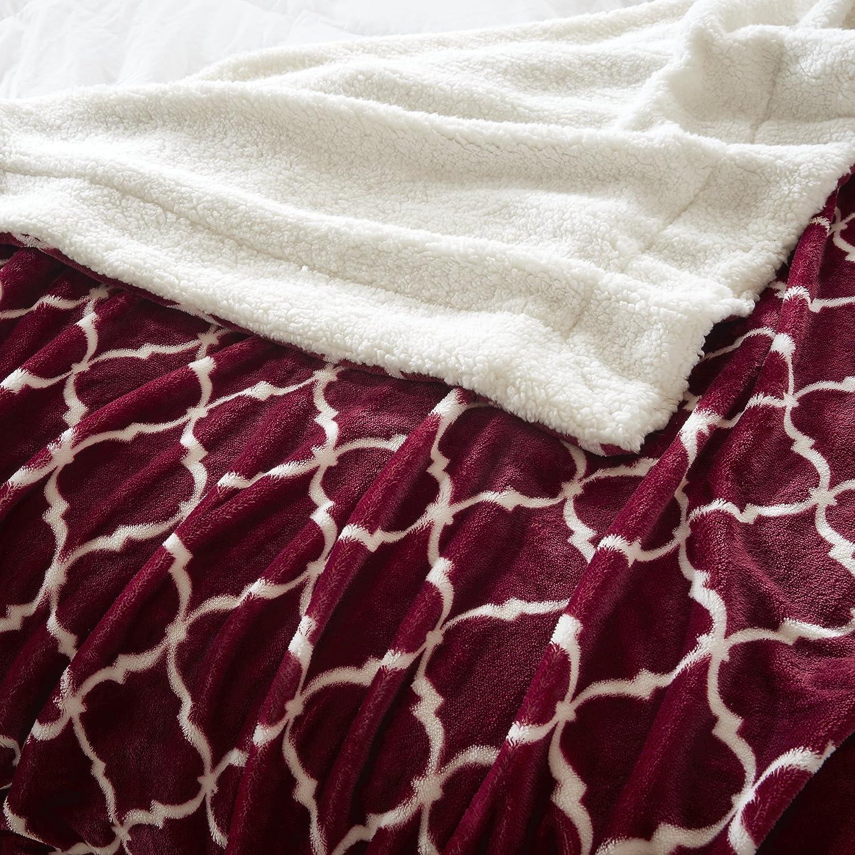 poli/éster Manta de doble cara super suave 127x150cm para cama y sof/á resistente a las arrugas y antidecoloraci/ón Gris