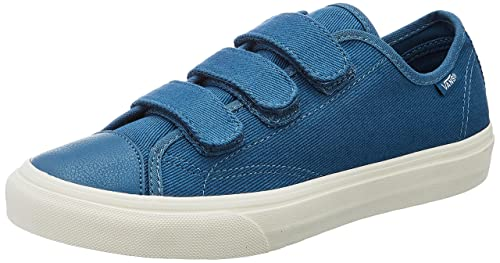6fc4d6e63f Vans Unisex s Prison Issue (Twill) Blues Ashes and Blanc De Blanc Sneakers  - 3
