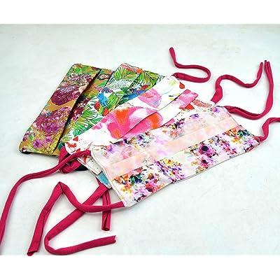 Mascarilla protectora handmade, mascara protectora con bolsillo para filtro, mascarillas hechas a mano, mascarillas de tela lavables (4 unidades)