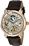 Stuhrling Original Hommes de 371. 03 automatique squelette montre homme en cuir Dual Time Indicateur AM/PM