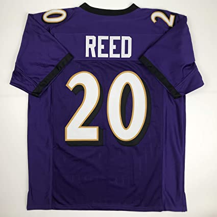 69b17c6b1e2 Image Unavailable. Image not available for. Color: Unsigned Ed Reed  Baltimore Purple Custom Stitched Football Jersey Size Men's XL New No Brands /
