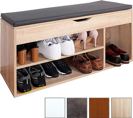 Ricoo Meuble De Rangement Pour Chaussure Wm034 Es A Banc Armoire