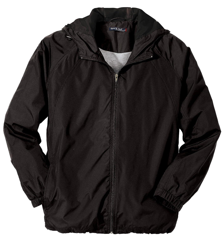 5XL Sport-Tek Full-Zip Hooded Jacket Black
