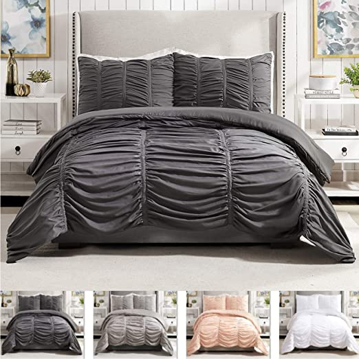 Amazon Com Modern Heirloom Collection Emily Texture Comforter Set