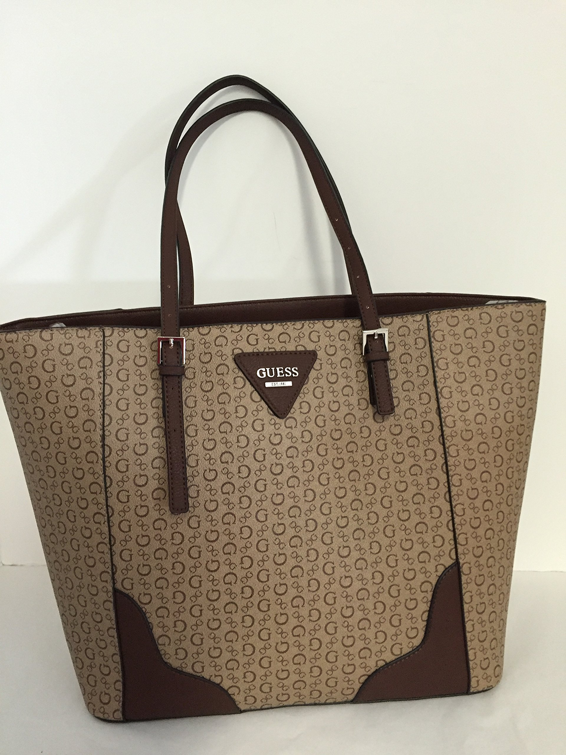 Guess saffiano leather Darcie Logo Tote Shoulder Bag