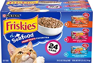 Purina Friskies Canned Wet Cat Food 24 Count Variety Packs - (24) 5.5 oz. Cans