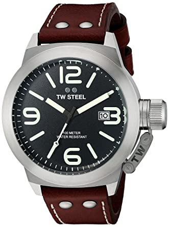 7f93de6b55a2 Amazon.com  TW Steel Men s CS22 Analog Display Quartz Brown Watch  Watches