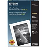 Epson Ultra Premium Presentation Paper MATTE (13x19 Inches, 50 Sheets) (S041339)