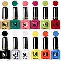 Mi Fashion Non-Toxic Premium Lacquer Extra Shine Nail Polish Shades Of 12 Pcs