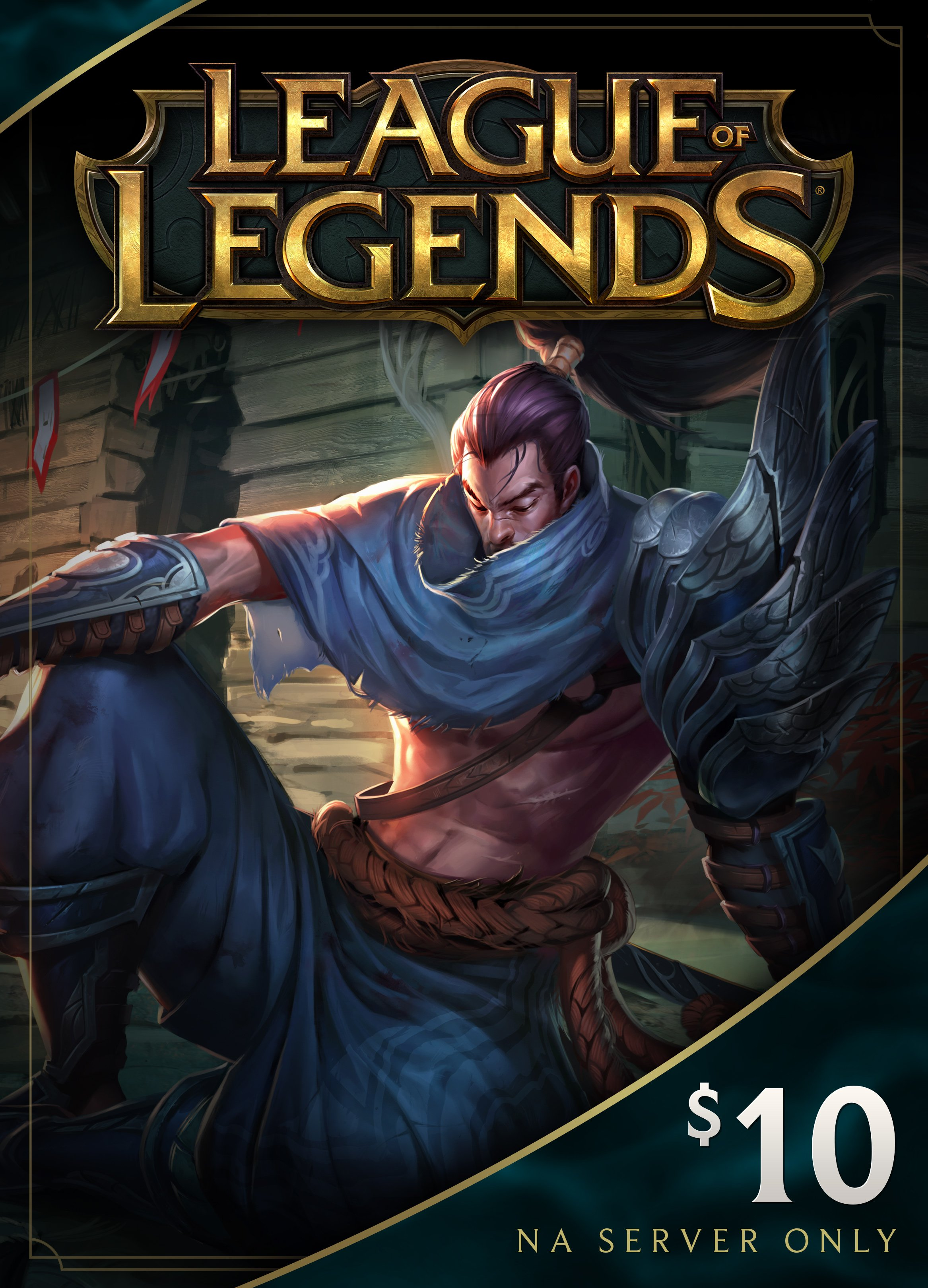 League Of Legends  10 Gift Card   1380 Riot Points   Na Server Only  Online Game Code