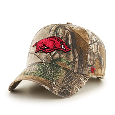 new product c00c5 d1d5a ... order 47 ncaa arkansas razorbacks adult clean up realtree adjustable hat  one size realtree 82eda e21a0