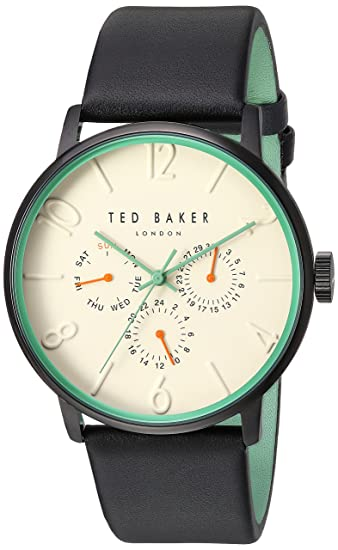 52dccf1c1f Buy Ted Baker Men s  James  Quartz Stainless Steel and Leather Dress Watch
