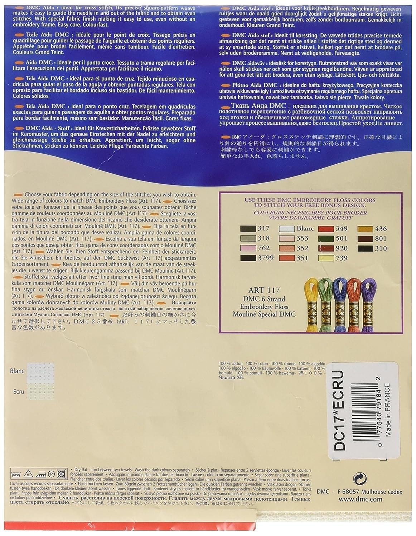 DC17//10 35x45cm - Ecru 11 Count Aida Fabric 14x18 Inches