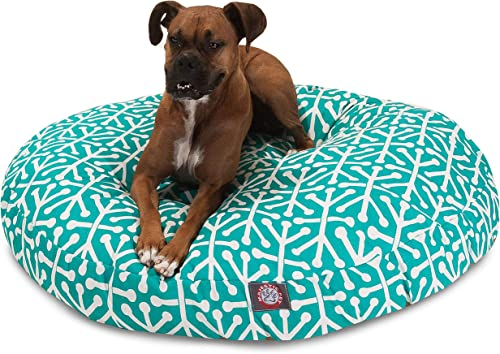 Pacific Aruba Large Round Indoor Outdoor Pet Dog Bed With Removable Washable Cover By Majestic Pet Products