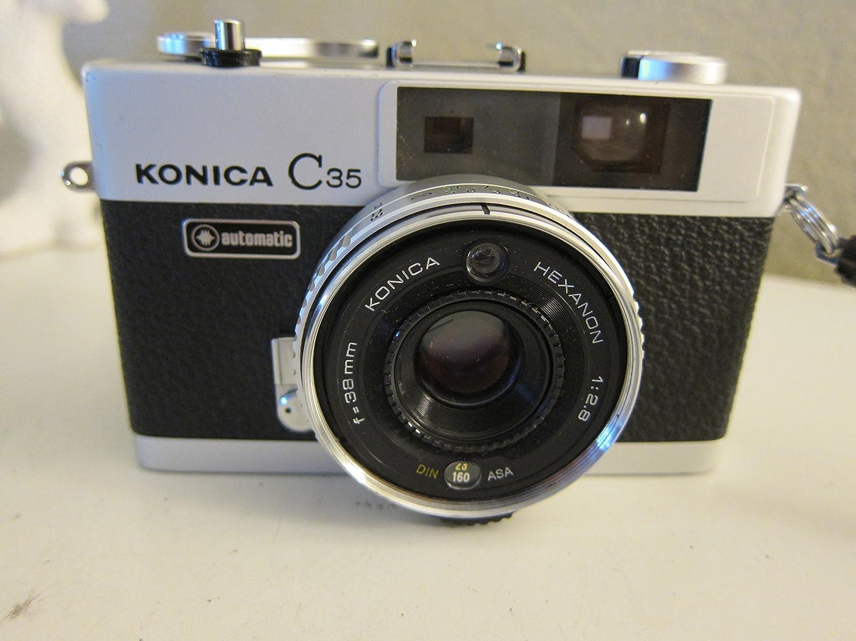 Konica c35 35 mm FilmカメラKonica Hexanon 38 mm f2 . 8レンズISO設定   B01MSK03KE